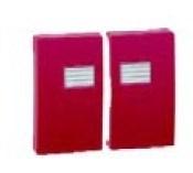Simon 44 Aqua Красная Клавиша двойная для выключателя с подсветкой