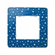 Simon 82 Detail Сине-фиолетовый, звезды Рамка 1-ая