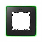 Simon 82 Detail Графит, неоново-зеленое основание Рамка 1-ая
