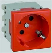 Simon Connect Красная Розетка 45х45мм, быстрое соединение (K11-6)