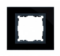 Simon 82 Nature Чёрный/Графит/Стекло Рамка 1-ая