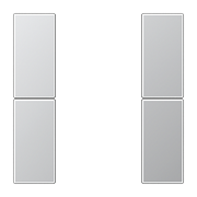 JUNG KNX Алюминий Комплект накладок 2гр