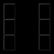 JUNG KNX Черный Набор накладок, на кнопочный модуль 3гр