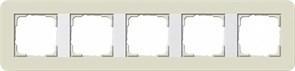 Gira серия E3 Песочный/белый глянцевый Рамка 5-ая