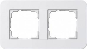 Gira серия E3 Белый глянцевый Рамка 2-ая
