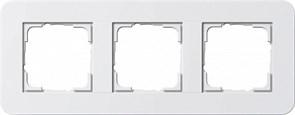 Gira серия E3 Белый глянцевый Рамка 3-ая