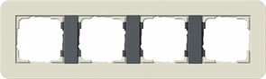 Gira серия E3 Песочный/антрацит Рамка 4-ая