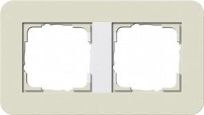 Gira серия E3 Песочный/белый глянцевый Рамка 2-ая