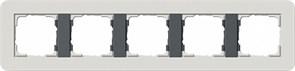 Gira серия E3 Светло-серый/антрацит Рамка 5-ая