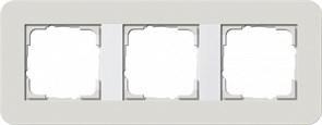 Gira серия E3 Светло-серый/белый глянцевый Рамка 3-ая