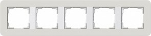 Gira серия E3 Светло-серый/белый глянцевый Рамка 5-ая