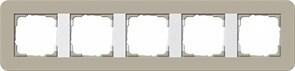 Gira серия E3 Серо-беевый/белый глянцевый Рамка 5-ая