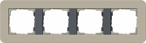 Gira серия E3 Серо-беж./антрацит Рамка 4-ая