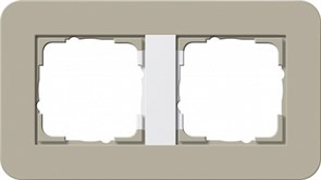Gira серия E3 Серо-беж./белый глянцевый Рамка 2-ая