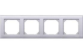 Рамка 4-ая (четверная), Schneider Electric, Серия MERTEN, Алюминий
