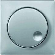 Диммер поворотно-нажимной , 600Вт универсальный, Merten, Серия Artec, Алюминий