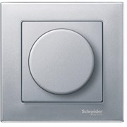 Диммер нажимной (кнопочный) 400Вт универсальный, Merten, Алюминий