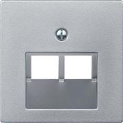 Розетка компьютерная 2-ая кат.5е, RJ-45 (интернет), Merten, Алюминий