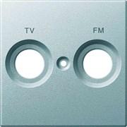 Розетка телевизионная проходная ТV-SAT, Merten, Алюминий
