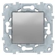 Выключатель 1-клавишный ,проходной (с двух мест), Schneider Electric, Серия Unica New, Алюминий