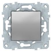 Выключатель 1-клавишный, перекрестный (с трех мест), Schneider Electric, Серия Unica New, Алюминий