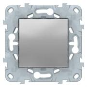 Выключатель 1-клавишный; кнопочный, Schneider Electric, Серия Unica New, Алюминий