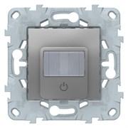 Датчик движения 2300Вт с ручн.упр. 3-х проводная схема, реле, Schneider Electric, Серия Unica New, Алюминий