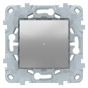 Диммер нажимной (кнопочный) 300Вт универсальный, Schneider Electric, Серия Unica New, Алюминий