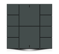 Iswitch 10 button  Anthracite Matt plastic