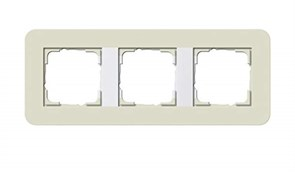 Gira серия E3 Песочный/белый глянцевый Рамка 3-ая 0213417