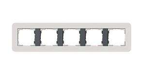 Gira серия E3 Светло-серый/антрацит Рамка 5-ая 0215421