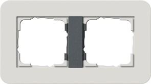 Gira серия E3 Светло-серый/антрацит Рамка 2-ая 0212421