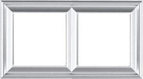 JUNG EcoProfi DECO Алюминий Рамка 2-ая EPD482AL