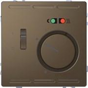 SE Merten D-Life Мокко Терморегулятор теплого пола с центральной платой с выключателем +4м 230В MTN5764-6052