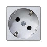 Simon Connect Алюминий Розетка 45х45мм (K01-8)