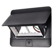 Выдвижной розеточный лючок на 4 модуля для установки в бетон. Цвет Чёрный. Legrand (Легранд). 054026+054001