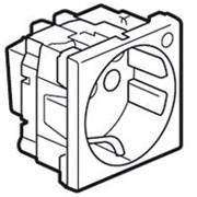 Розетка Mosaic с заземлением с защитными шторками с индикацией (2 модуля)