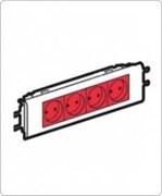 Розетка 4 х 2К+3 - Программа Mosaic - для установки в кабель-канале - автоматические клеммы - с механической блокировкой