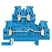 Винтовая клемма Viking 3 - двухполюсная - двухъярусная - шаг 6 мм - синий