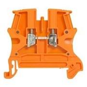 Винтовая клемма Viking 3 - однополюсная - 1 вход/1 выход - шаг 6 мм - оранжевый