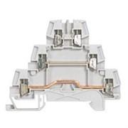 Винтовая клемма Viking 3 - трехполюсная - трехъярусная - шаг 5 мм - серый
