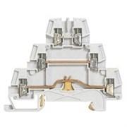 Винтовая клемма Viking 3 - металлическое основание - трехполюсная - трехъярусная - шаг 5 мм - серый (37152)