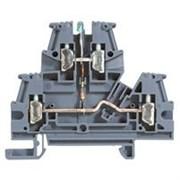 Винтовая клемма Viking 3 - многофункциональная - двухполюсная - двухъярусная - со светодиодом - шаг 6 мм - серый