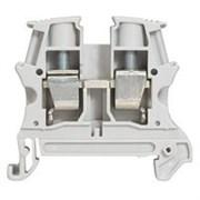 Винтовая клемма Viking 3 - однополюсная - 1 вход/1 выход - шаг 10 мм - серый (37163)