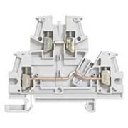 Винтовая клемма Viking 3 - двухполюсная - двухъярусная - шаг 6 мм - серый