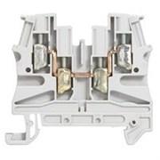 Винтовая клемма Viking 3 - однополюсная - 2 входа/2 выхода - шаг 6 мм - серый