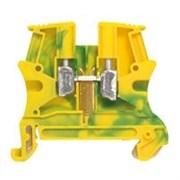 Винтовая клемма Viking 3 - заземляющая - однополюсная - металлическое основание - шаг 6 мм - желто-зеленый