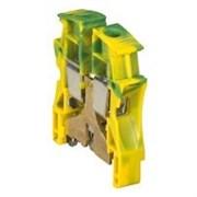 Винтовая клемма Viking 3 - заземляющая - однополюсная - металлическое основание - шаг 15 мм - желто-зеленый