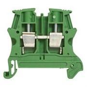 Винтовая клемма Viking 3 - заземляющая - однополюсная - пластиковое основание - шаг 6 мм - зеленый