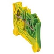 Пружинная клемма Viking 3 - заземляющая - однополюсная - 2 проводника - шаг 5 мм - желто-зеленый (37270)